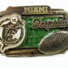 Miami Dolphins Solid Brass Belt Buckle Officially Licensed product USA 102115