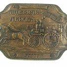 Vintage BOSTON America's Heroes Fire Department Belt Buckle 51217