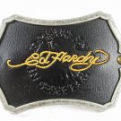 Drawn By In Seattle Black Leather Belt Buckle By ED HARDY 33116