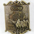 O's Gold Seed Company Brass Belt Buckle by LEWIS BUCKLES Chicago 121615