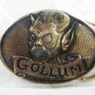 1979 Lord of the Rings Gollum Brass Belt Buckle by Tolkien Enterprises w/ Box