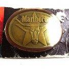 Vintage 1987 MARLBORO Brass Belt Buckle By PHILLIP MORRIS 101317