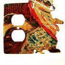 Bear Double Outlet Cover Plate LaZart 022515S