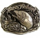 1987 Bass Fishing Belt Buckle By GREAT AMERICAN BUCKLE CO. USA 41417
