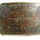 Vintage Queen of the West Mississippi Steamboat Belt Buckle 12017
