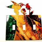 Hummingbird Triple Light Switch Cover Plate Steel Images USA 022615Q