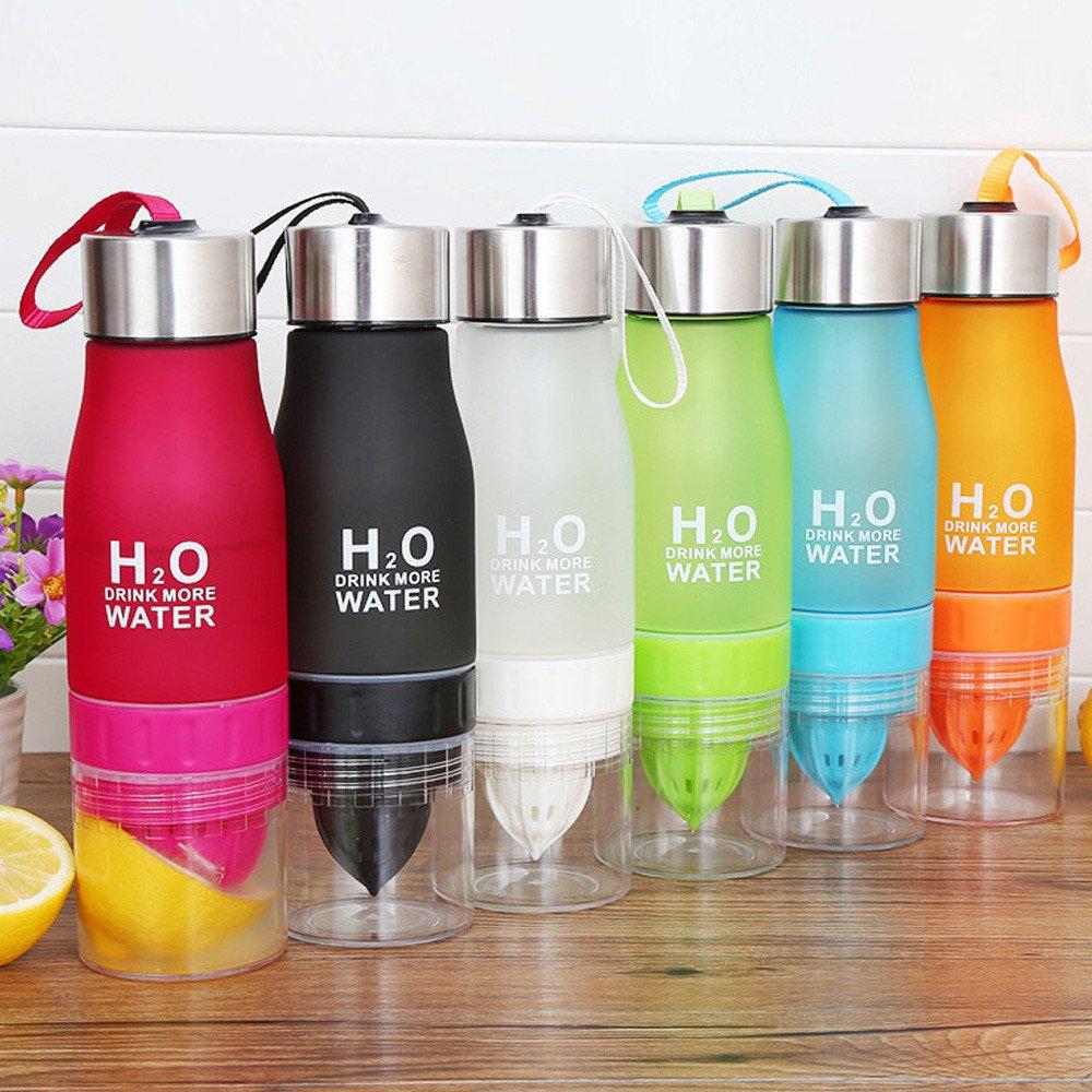 700ML Water Bottle plastic Fruit infusion (choose color)