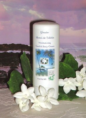 Monoi de Tahiti Hand & Body Cream 6oz Bottle