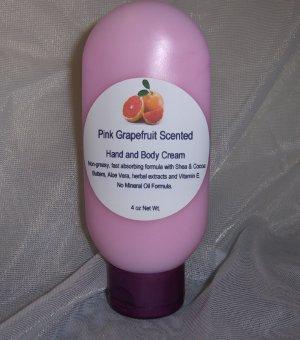 Pink Grapefruit  Hand & Body Cream 4oz Malibu Tube Sylvan Lane