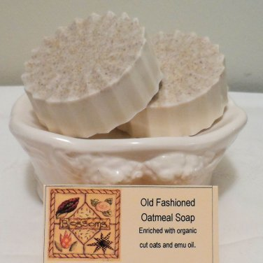 Oatmeal Emu Oil Facial Soaps Sensitive Oily Skin Types Two Bars