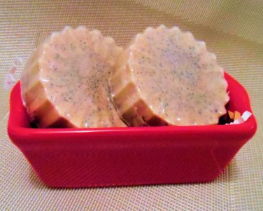 Odor Eating Hand Soap Gift Set with Red Loaf Pan Two Regular bars.