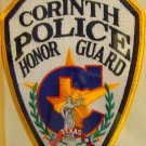 Corinth Texas Police Honor Guard Shoulder Patch