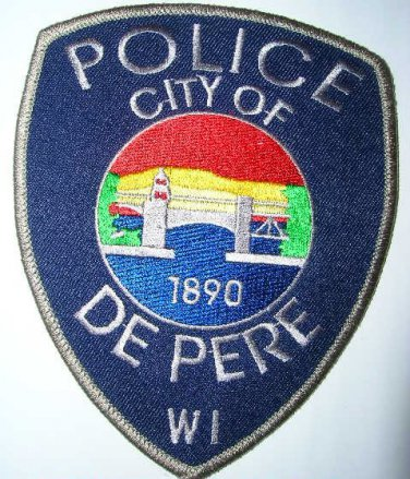 City of De Pere wisconsin police department shoulder patch