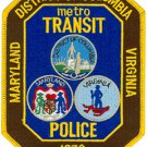 District of columbia metrontransit dc police department shoulder patch