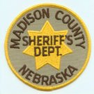 Madison county nebraska sheriffs police department shoulder patch