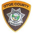 Otoe County Sheriffs Department uniform shoulder patch