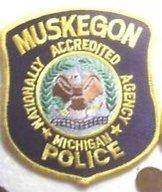 Muskagon Countu Michigan Police Department uniform patch