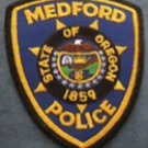 Medford State of Oregon Police Department uniform shoulder patch