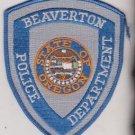 Beaverton state of Oregon Police Department uniform shoulder patch