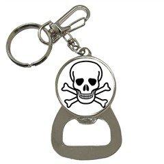 Jolly Roger Bottle Opener Key Chain