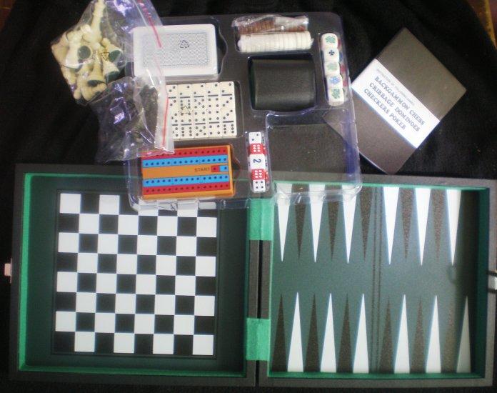 CHESS BACKGAMMON CHECKERS BOX SET NEW!