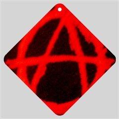 Anarchy Car Window Sign