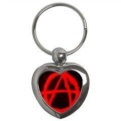Anarchy Key Chain (Heart)