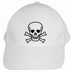 Jolly Roger White Cap