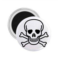 "Jolly Roger 2.25"" Magnet, punk ,goth"