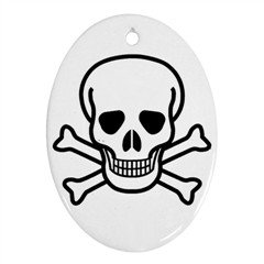 Jolly Roger Ornament (Oval), punk, rock, goth
