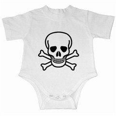 Jolly Roger Infant Creeper, punk, goth, rock
