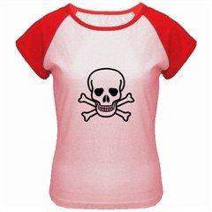 Jolly Roger Women's Cap Sleeve T-Shirt, punk, goth, rock
