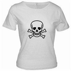 Jolly Roger Ladies Baby Doll T-Shirt, punk, goth, rock