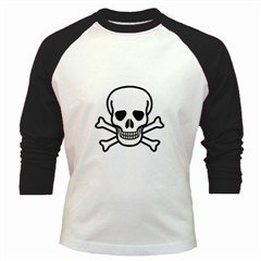 Jolly Roger Baseball Jersey, goth, punk,, rock