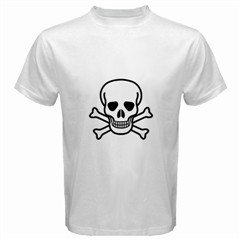Jolly Roger White T-Shirt, punk, goth, rock