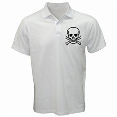 Jolly Roger Golf Shirt, punk, goth, rock,111, prep. sucks