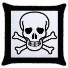Jolly Roger Throw Pillow Case (Black), punk, goth, rock