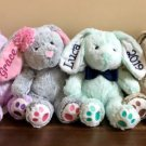 Personalized Easter Bunny, Kids Stuffed Animal Plush Rabbit
