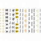 Designer Brand Nail Stickers Logo Decals Art Manicure Pedicure MT135