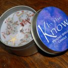 In the Know Ritual Candle - Contains Genuine Gemstones! - Gemstone & Herb Candle - Ritual Candle