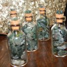 Genuine GREEN MOSS AGATE Tumbled Chips Jar - Crystals - Chakra Stones - Gemstone Jars