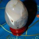 Genuine GREY AGATE Egg - Aquatic Agate Gemstone Egg - Gray Agate Crystal Egg