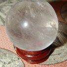 Genuine Natural QUARTZ Sphere - Clear Rock Quartz Orb - 40mm Gemstone Crystal Ball