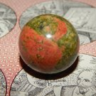 Genuine UNAKITE ORB - Natural Unakite Sphere - 30mm Gemstone Crystal Ball