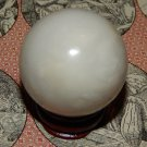Large Genuine WHITE JADE Sphere - Natural White Jade Orb - 40 mm Gemstone Crystal Ball