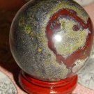 Large Genuine DRAGON BLOOD JASPER Orb - Natural Jasper Sphere - 40mm Gemstone Crystal Ball