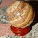 Large Genuine PICTURE JASPER ORB - Natural Jasper Sphere - 40mm Gemstone Crystal Ball