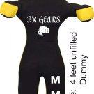 BX GEARS Brazilian Grappling Canvas Straight Dummy MMA Wrestling Judo Black/Yellow