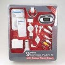9 Piece Complete iPod(R) Kit with Deluxe Travel Pouch