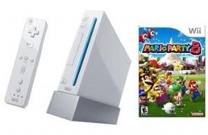 Nintendo Wii Console + Mario Party 8 Wii Bundle